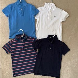Bundle of J.crew/crewcuts Boys Polo Shirts Sz 4-5T